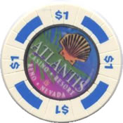 casino atlantis Rn $1 chip rev