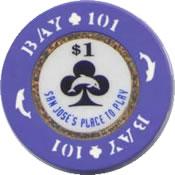 casino bay 101 san jose CA $1 anv