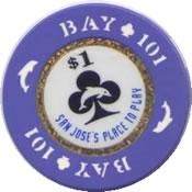 casino bay 101 san jose CA $1 rev
