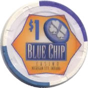 casino blue chip michigan city IN $1 chip anv