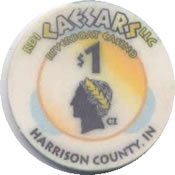 casino caesars Harrison county IN $1 chip anv