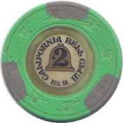 casino california bell club $2 chip anv