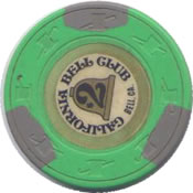 casino california bell club $2 chip rev
