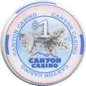casino canyon black hawk CO $1 chip anv