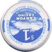 casino canyon black hawk CO $1 chip rev