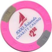 casino charity 1000 island cnd $2.50 chip rev