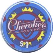 casino cherokee catoosa OK $1 chip anv