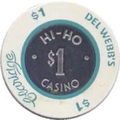 casino claridge hi-ho del webb's at city NJ $1 chip anv
