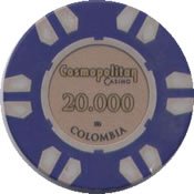 casino cosmopolitan colombia 20000 chip rev