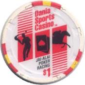 casino dania jai alai dania beach FL $1 chip anv