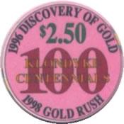 casino dawson city yukon cnd $100 chip 1 rev