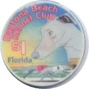 casino daytona beach kennel club FL $1 chip anv