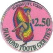 casino diamond tooh gerties yukon cnd $100 chip 1 anv