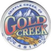 casino gold creek cripple creek CO $1 Chip anv