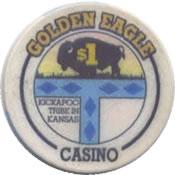 casino golden eagle horton KS $1 chip anv
