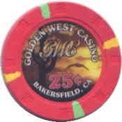 casino golden west bakersfield CA 25c chip anv