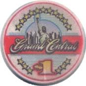 casino grand central lakewood WA $1 chip anv