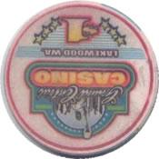 casino grand central lakewood WA $1 chip rev