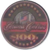 casino grand central lakewood WA $100 chip anv