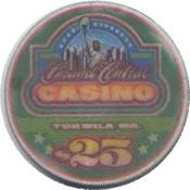 casino grand central lakewood WA $25 chip anv