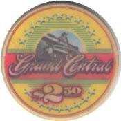 casino grand central lakewood WA $2,50 chip anv
