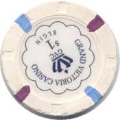 casino grand victoria elgin IL $1 chip 1 rev