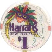 casino harrah's new orleans LA $1 chip anv