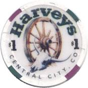 casino harveys central city CO $1 chip anv