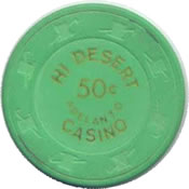 casino hi desert adelanto CA 50c chip anv