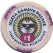 casino isleta gaming palace albuquerque NM $1 chip anv