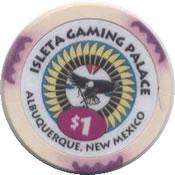 casino isleta gaming palace albuquerque NM $1 chip rev
