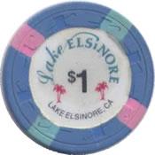 casino lake elsinore CA $1 chip anv