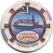casino lakeside osceola IA $1 chip rev