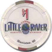 casino little river manistee MI $1 chip rev