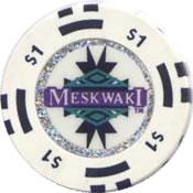 casino meskwaki tama IA $1 chip 1 anv