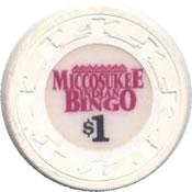 casino miccosukee Miami FL $1 chip anv