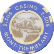 casino mont-tremblant QC CND $2,50 chip anv