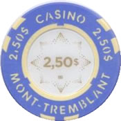 casino mont-tremblant QC CND $2,50 chip rev