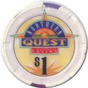 casino northern quest spokane WA $1 chip anv