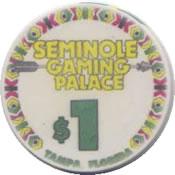 casino seminole gaming palace tampa FL $1 chip anv