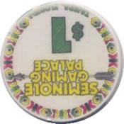casino seminole gaming palace tampa FL $1 chip rev