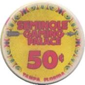 casino seminole gaming palace tampa FL 50c chip anv