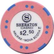 casino sheraton halifax Nova scotia cdn $2.50 chip anv