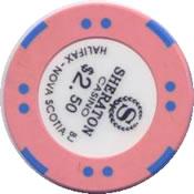casino sheraton halifax Nova scotia cdn $2.50 chip rev