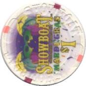 casino showboat AtC $1 chip 1 rev
