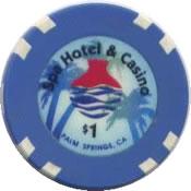 casino spa palm springs CA $1 chip anv