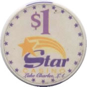 casino star lake charles LA $1 chip anv