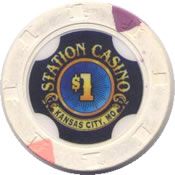 casino station kansas city MO $1 chip anv