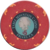 casino table mountain frant $ 5 chip anv