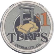 casino terps central city CO $1 chip anv
